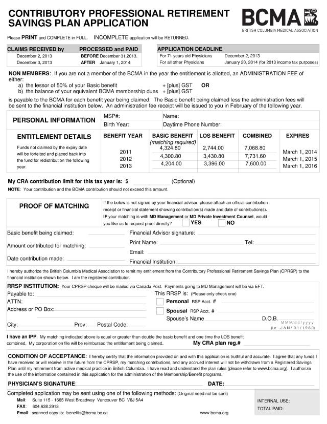 Cprsp Application Form  The Medical Accountant